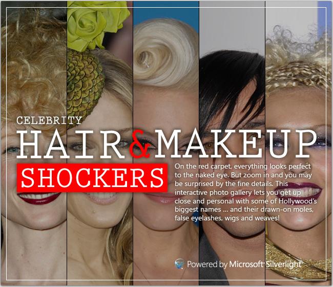 MSN Silverlight hair and makeup