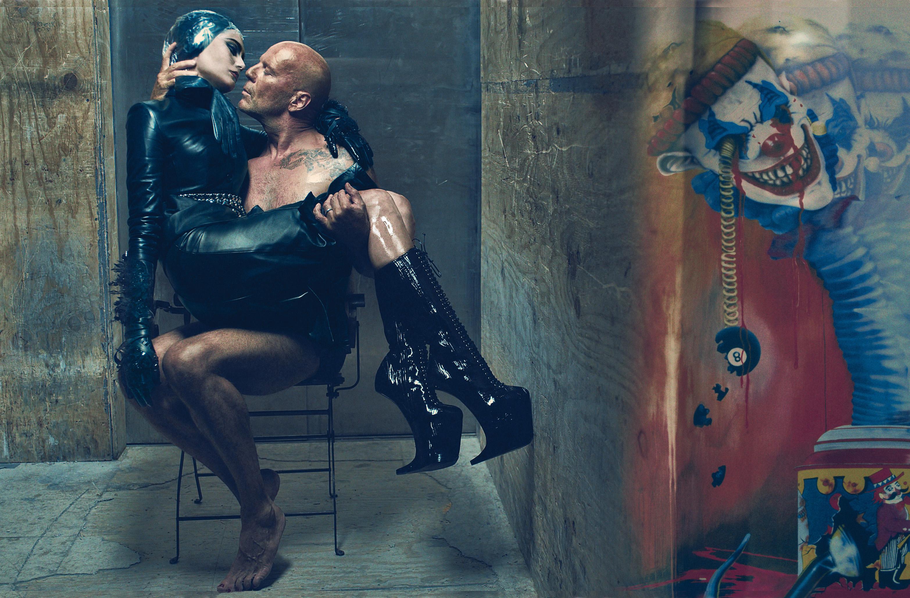 Bruce Willis & Emma, W Magazine July 2009