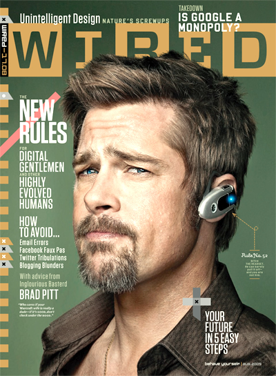 Brad Pitt, Wired Aug '09
