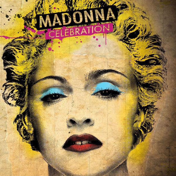 Madonna's Celebration album cover, Madonna.com