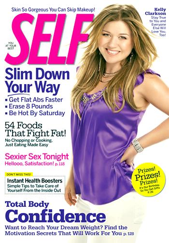 Kelly Clarkson, SELF Magazine