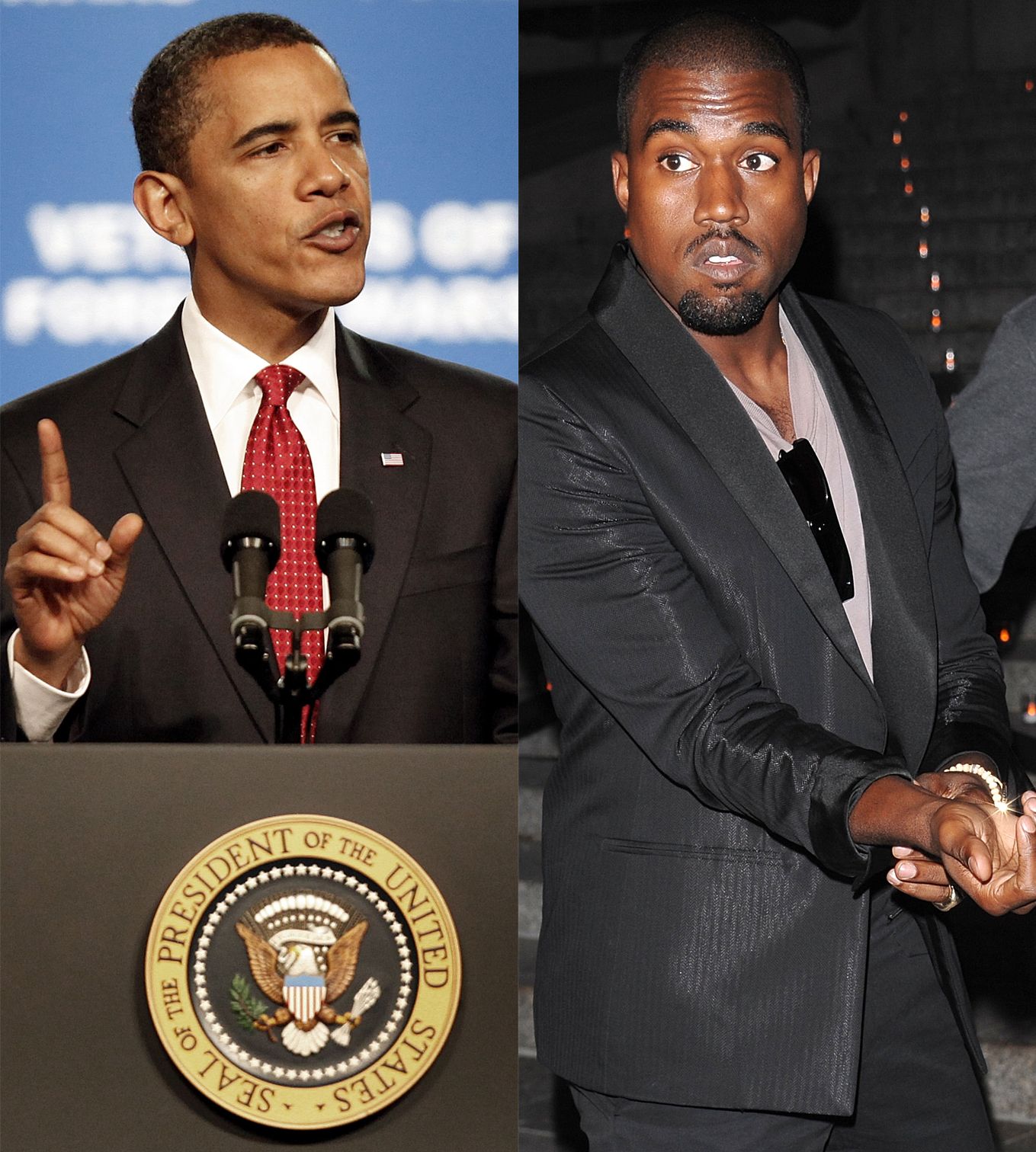Barack Obama and Kayne West