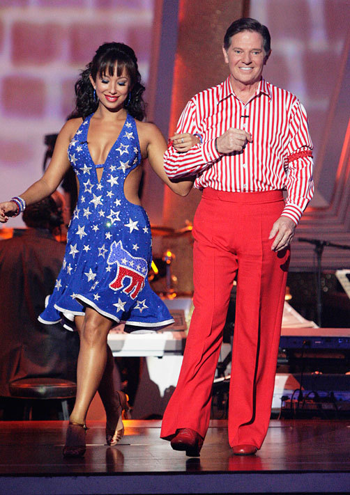 Cheryl Burke and Tom Delay