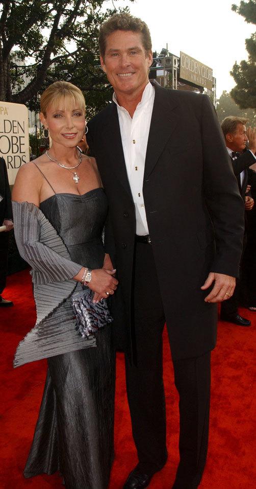 Pamela Bach and David Hasselhoff