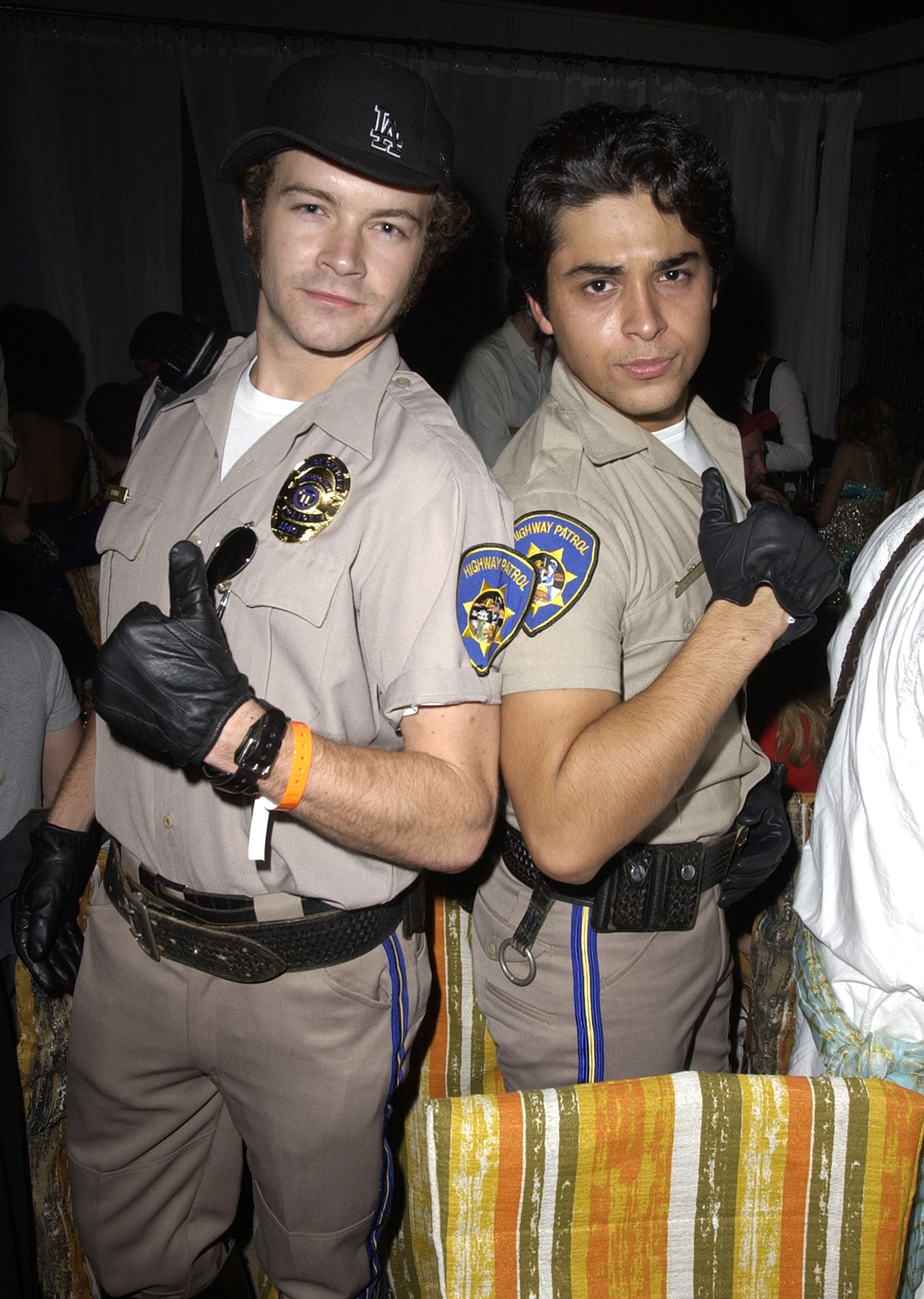 """No. 29: Danny Masterson and Wilmer Valderrama as Ponch and Jon from """"CHiPs"""""""
