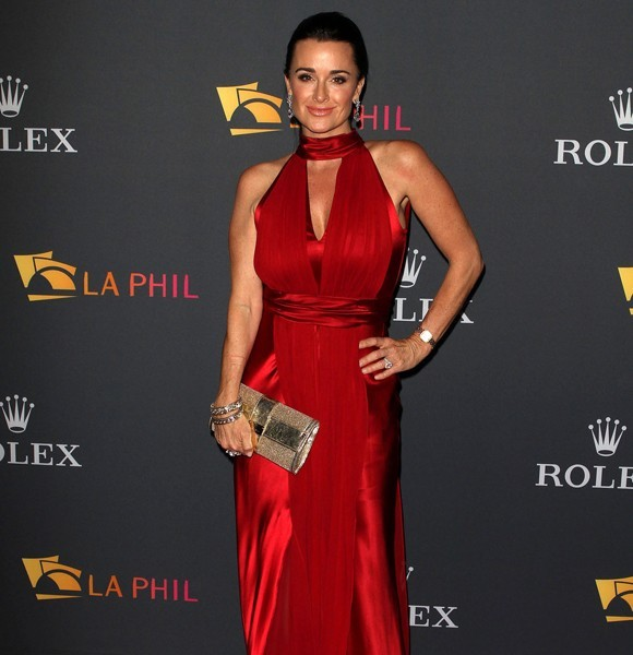 kyle richards red dress