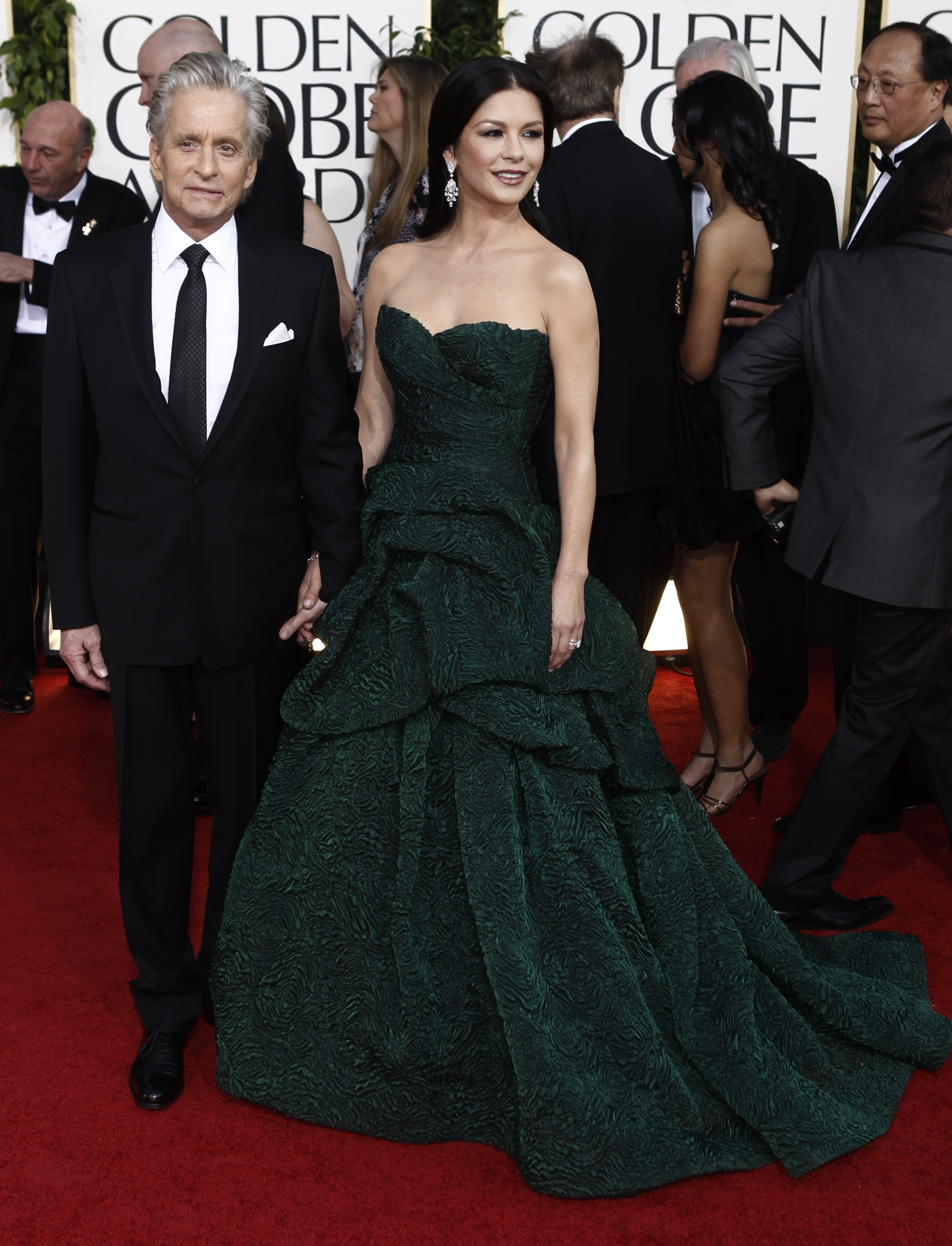 Michael Douglas and Catherine Zeta Jones red carpet