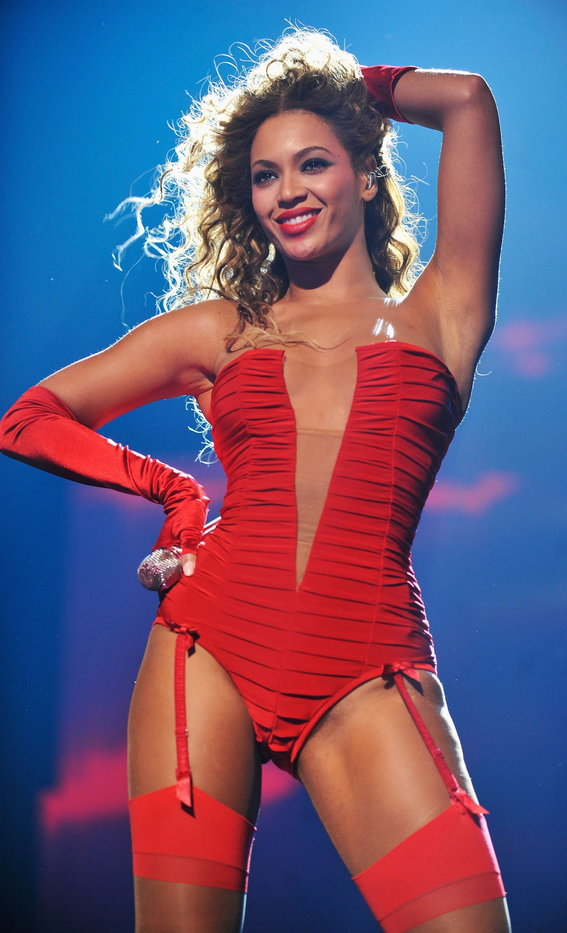 beyonce red sexy costume