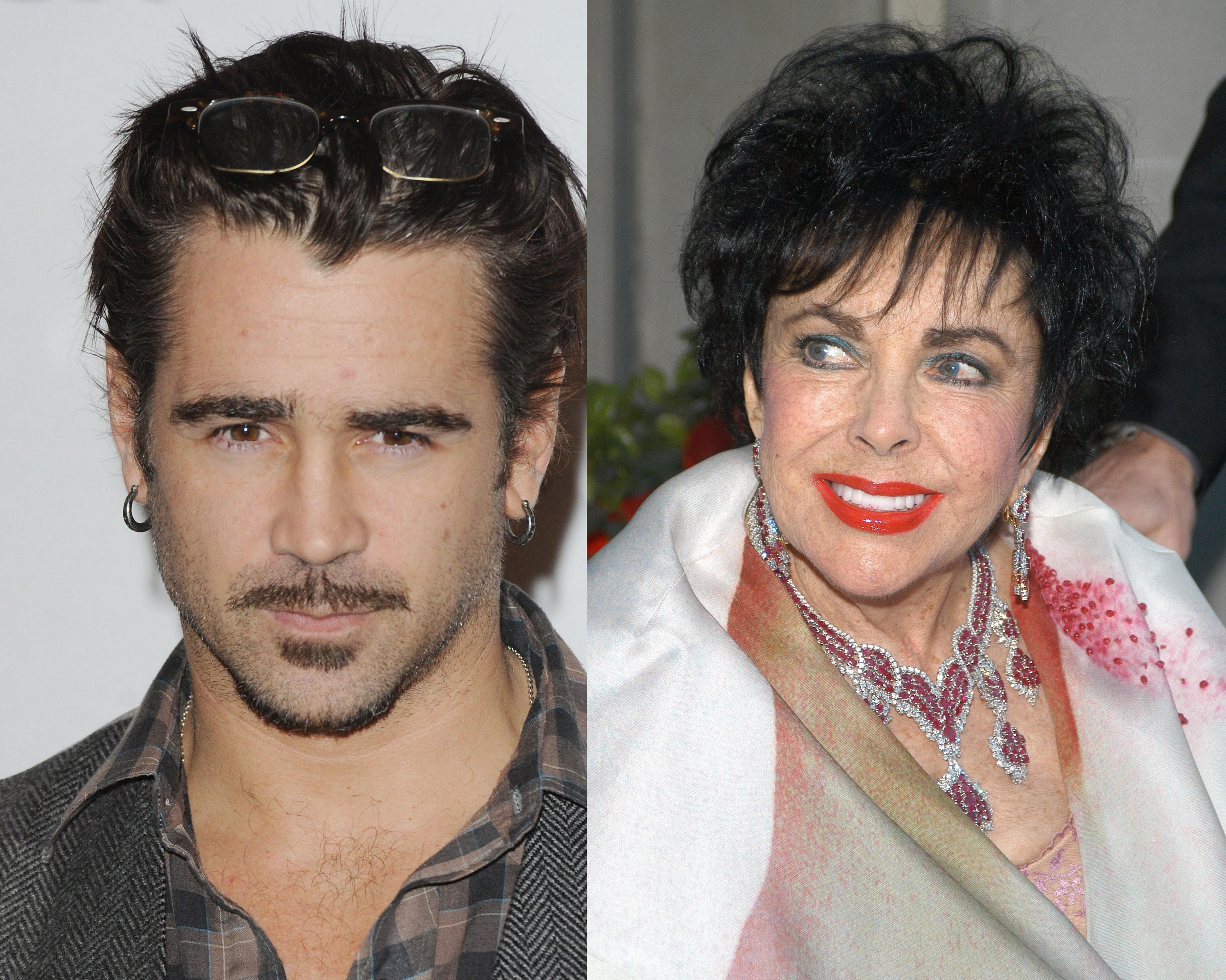 Elizabeth Taylor and Colin Farrell