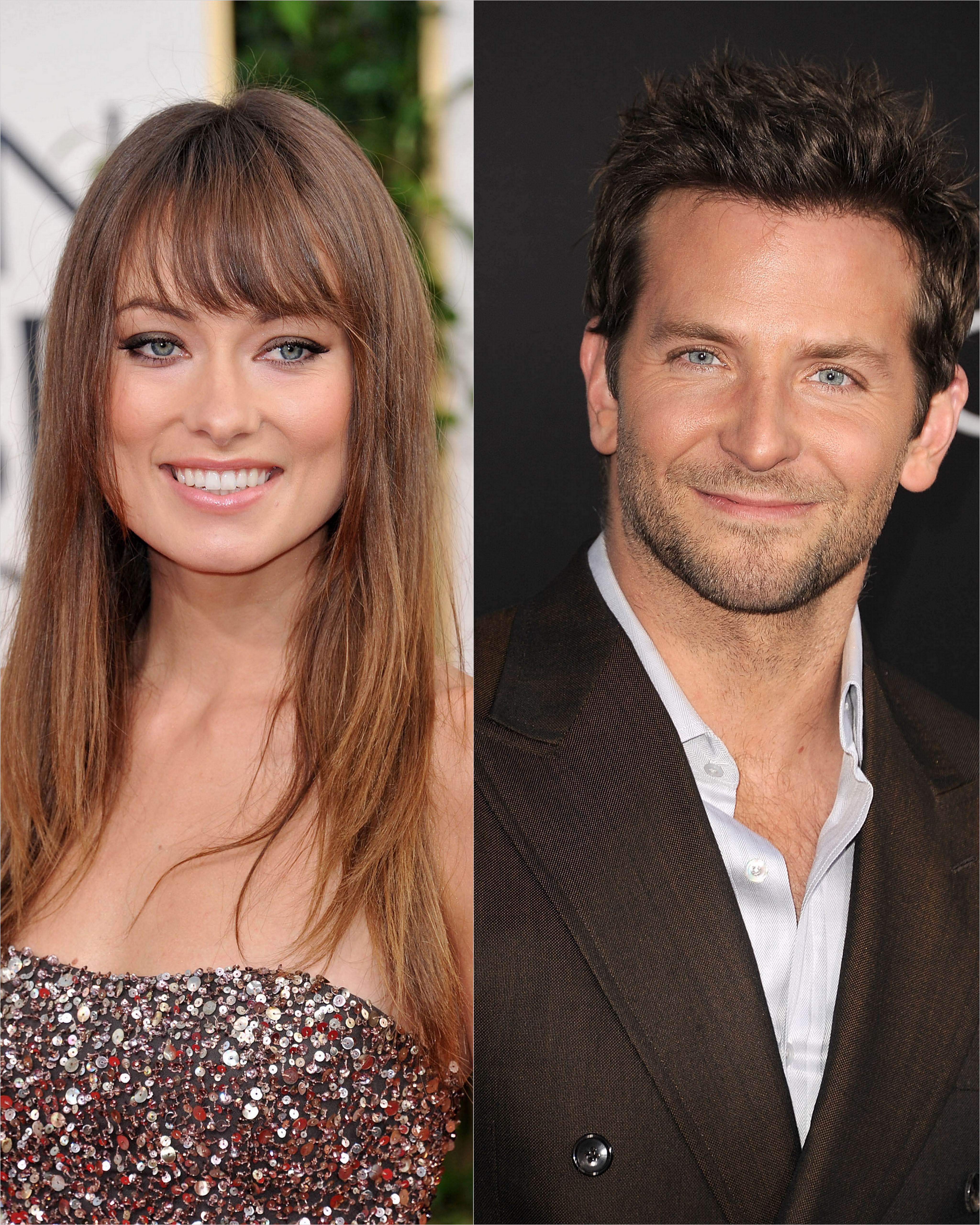 Olivia Wilde and Bradley Cooper collage
