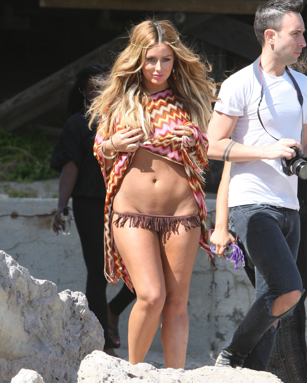 Aubrey O'day fringe bikini bottom