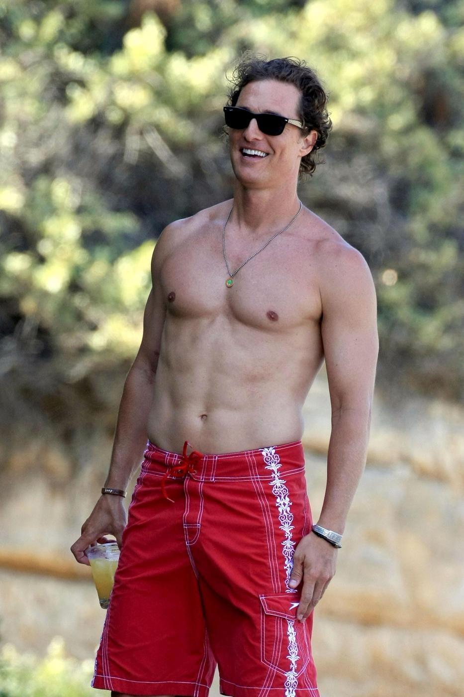 Matthew McConaughey beach