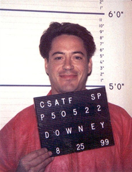 Robert Downey Jr. served four months, then one year