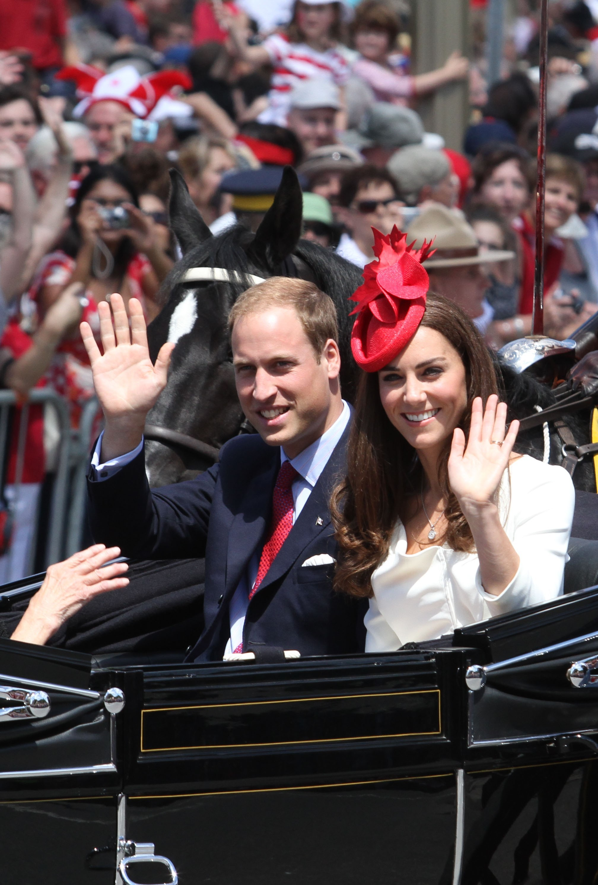 Duchess Kate prince william horse drawn carriage