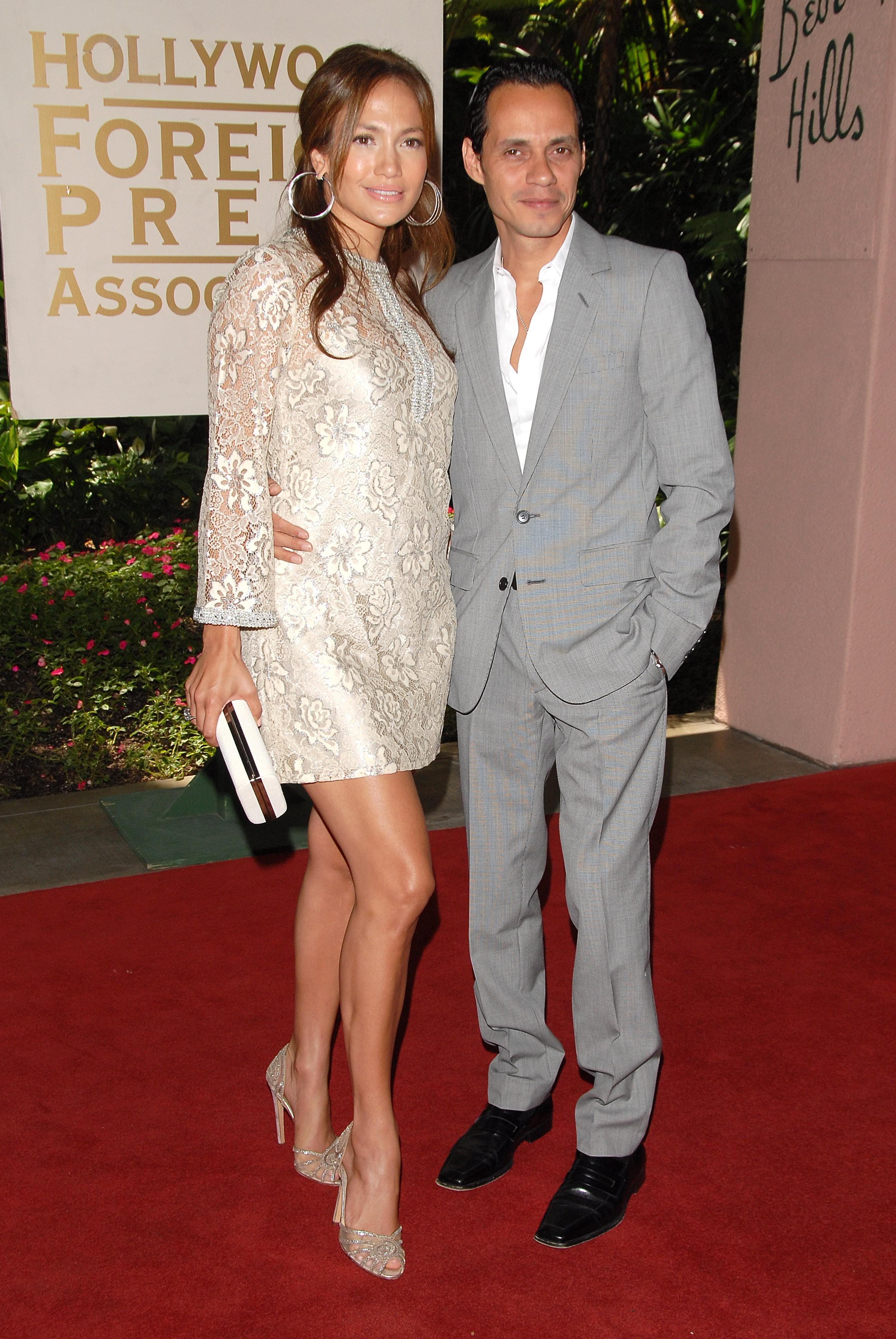 Jennifer Lopez Marc Anthony red carpet