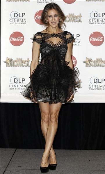 Sarah Jessica Parker Jessica Alba sheer black dress