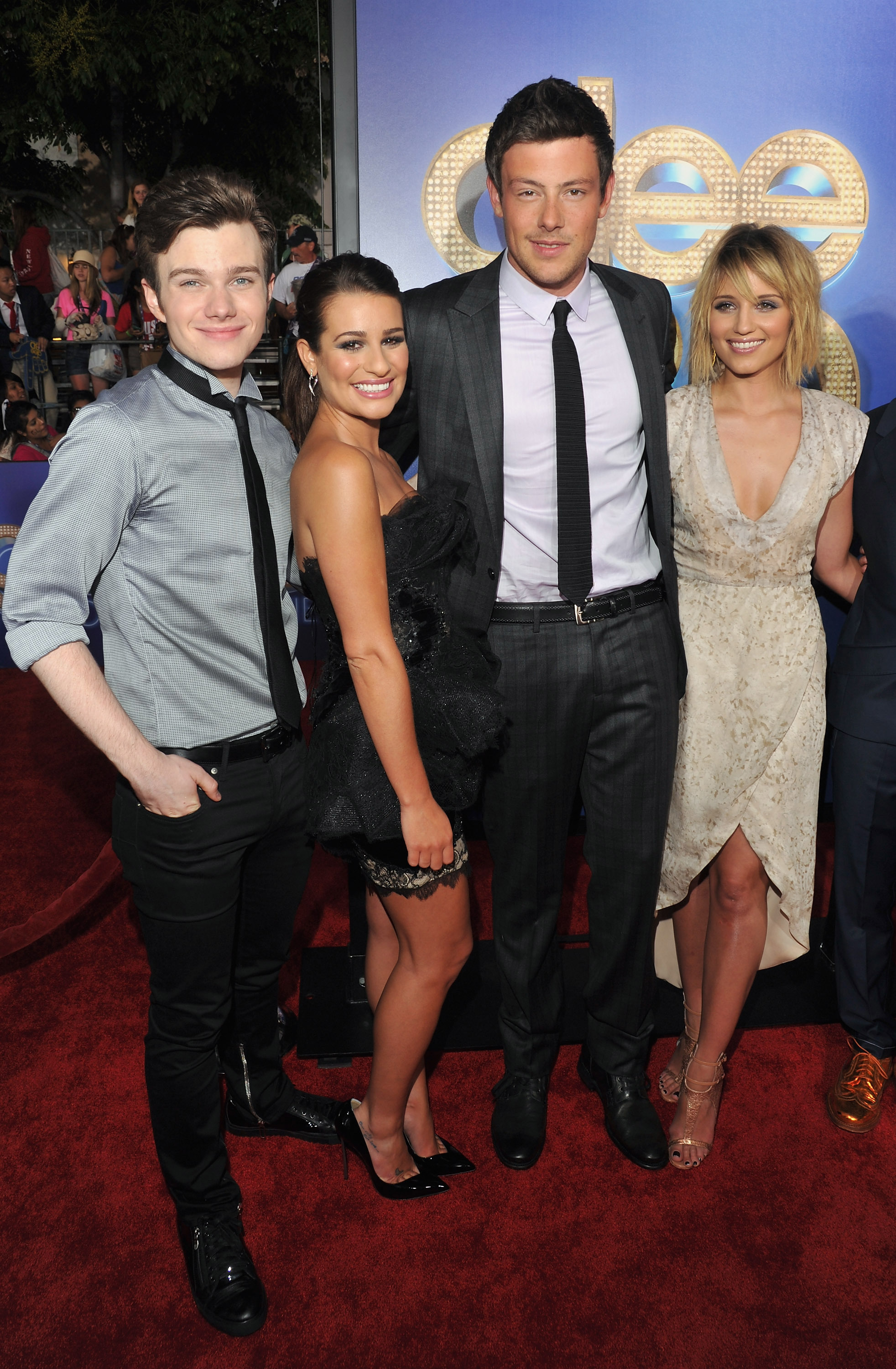 dianna agron cory monteith statement death grieving glee co stars