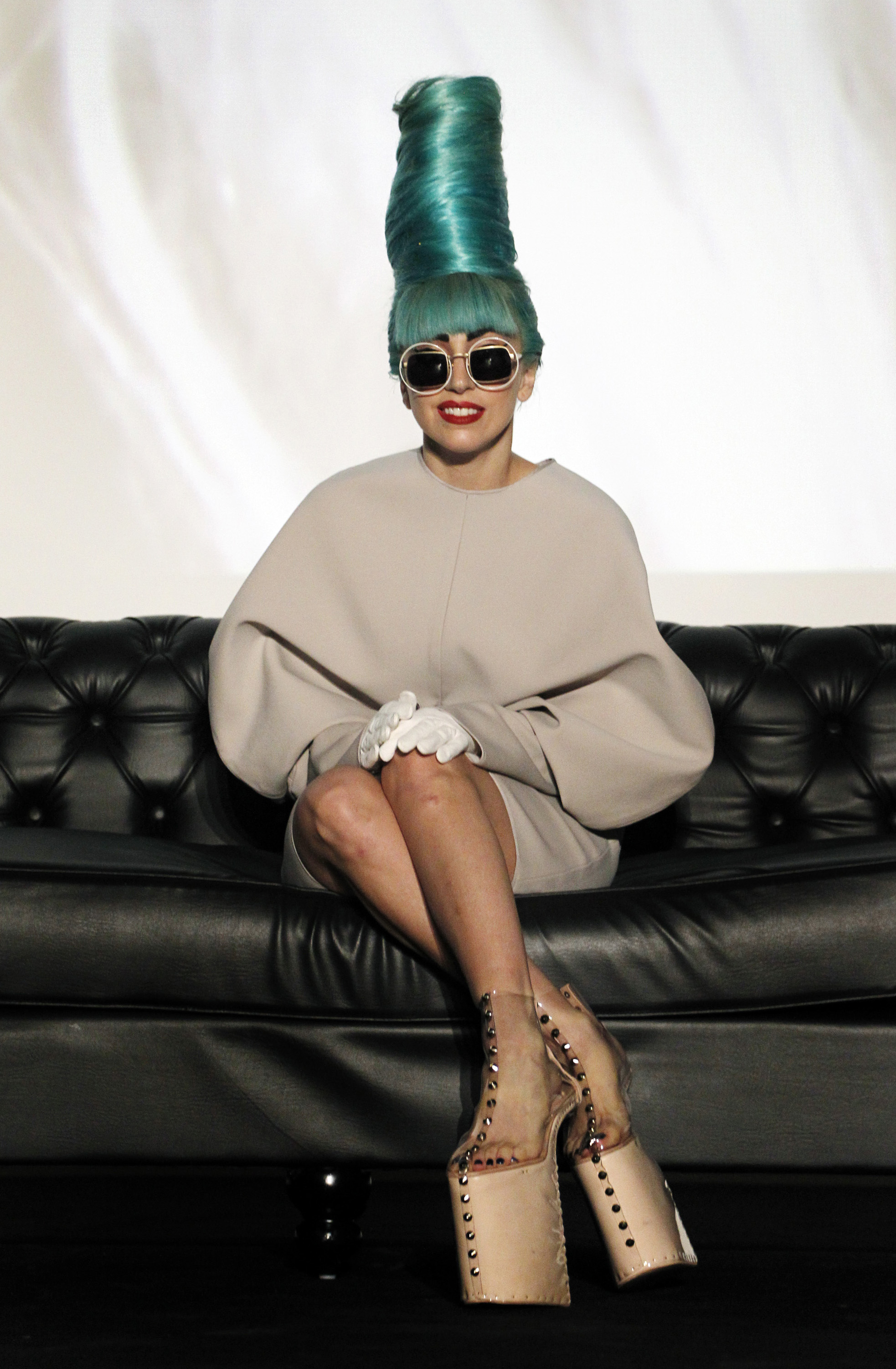 Lady Gaga gives a press conference at Marina Bay Sands in Singapore