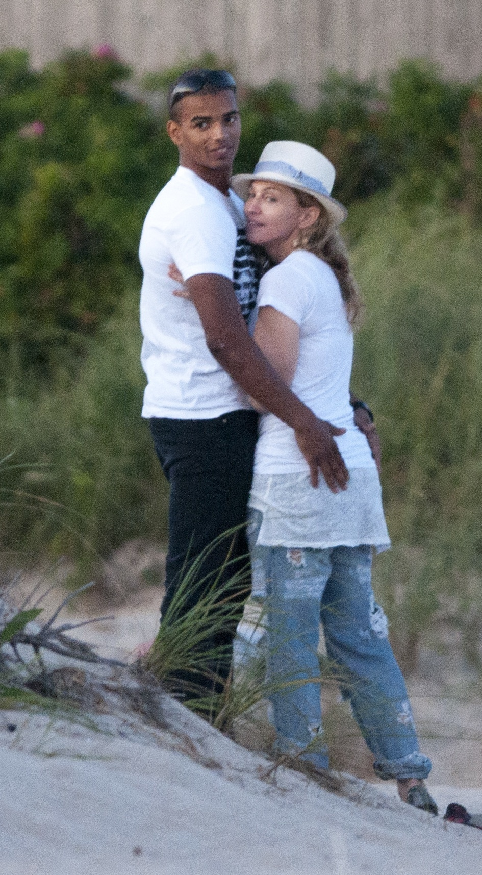 Madonna and younger man