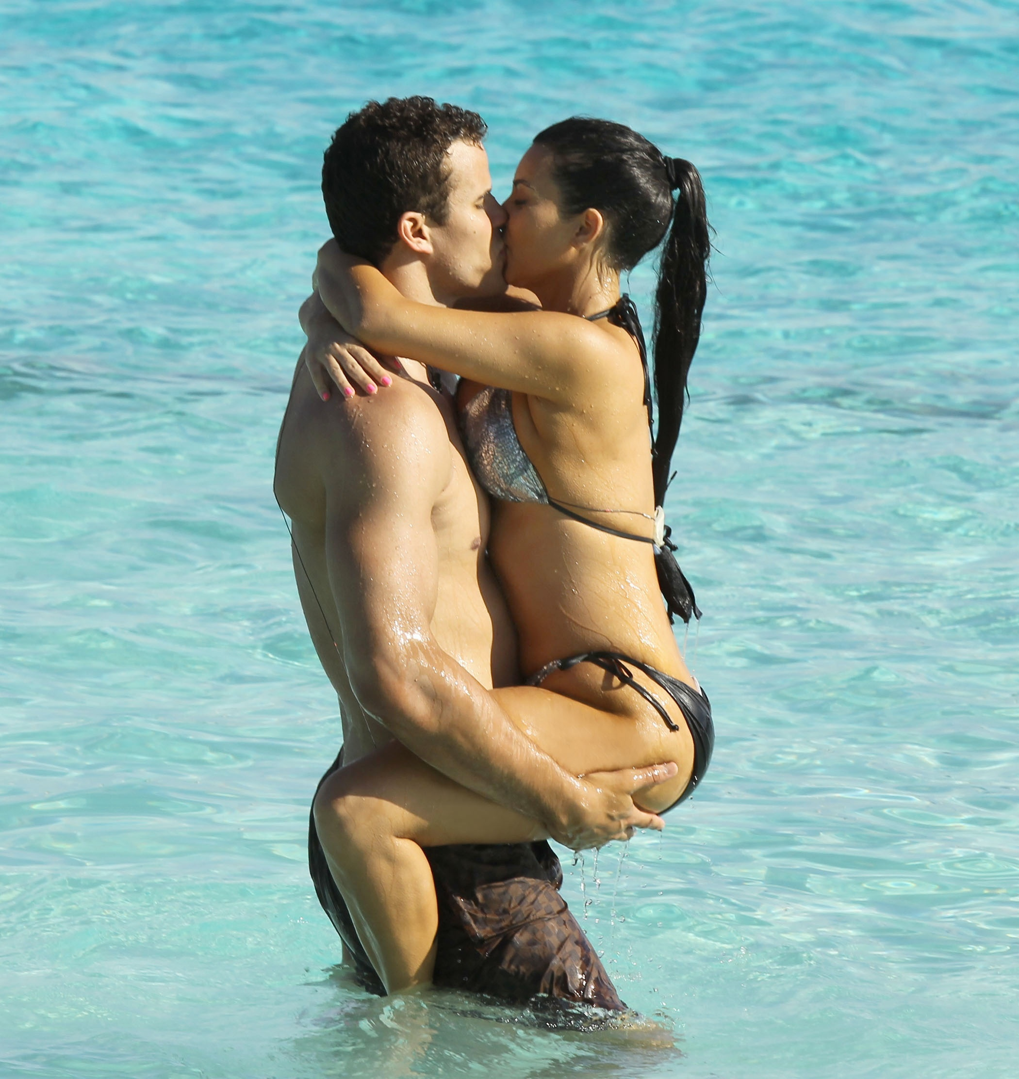 Kim Kardashian and Kris Humphries in Bora Bora