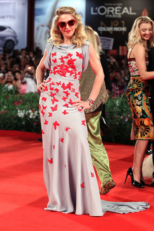 Madonna venice film festival dress