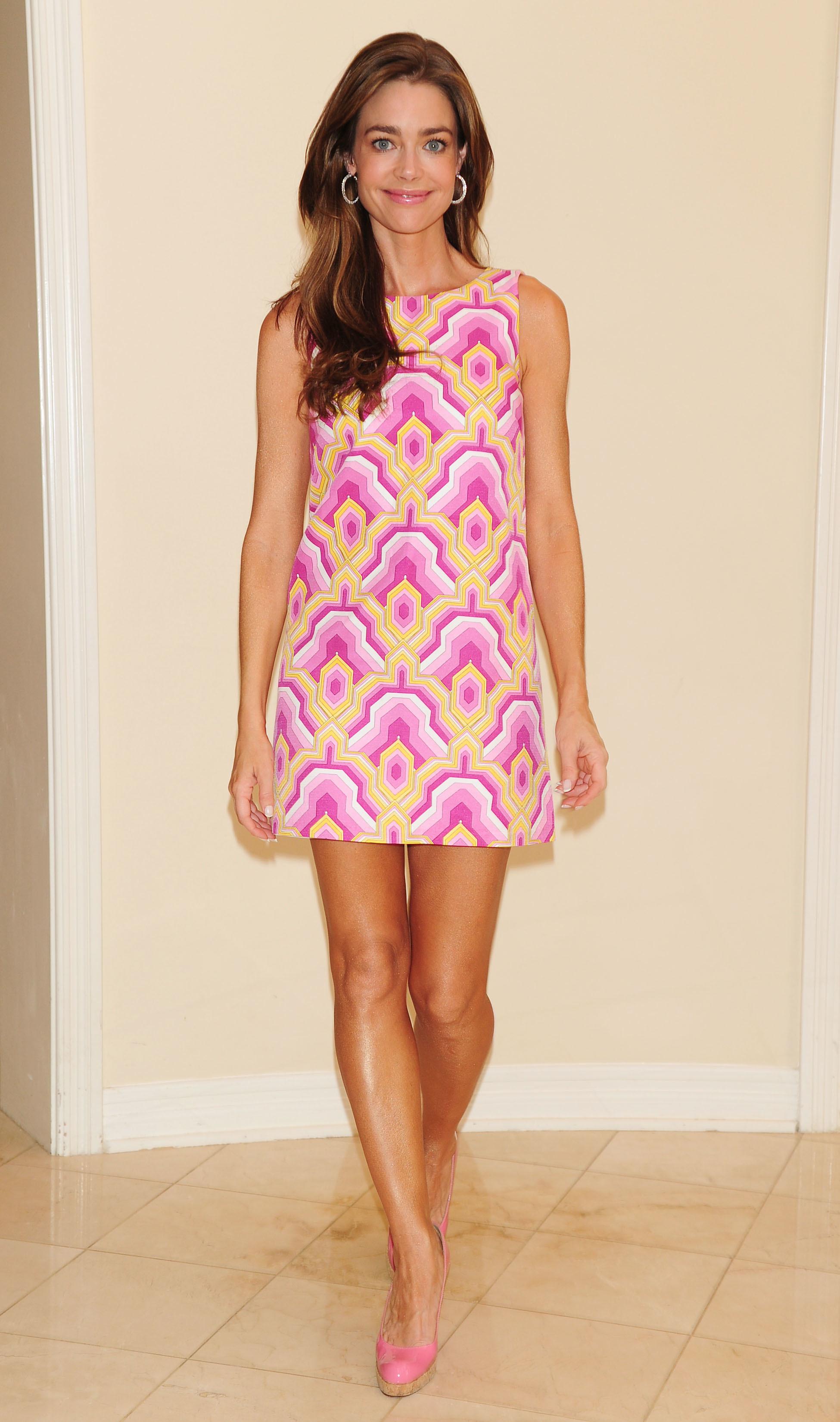 denise richards pink dress