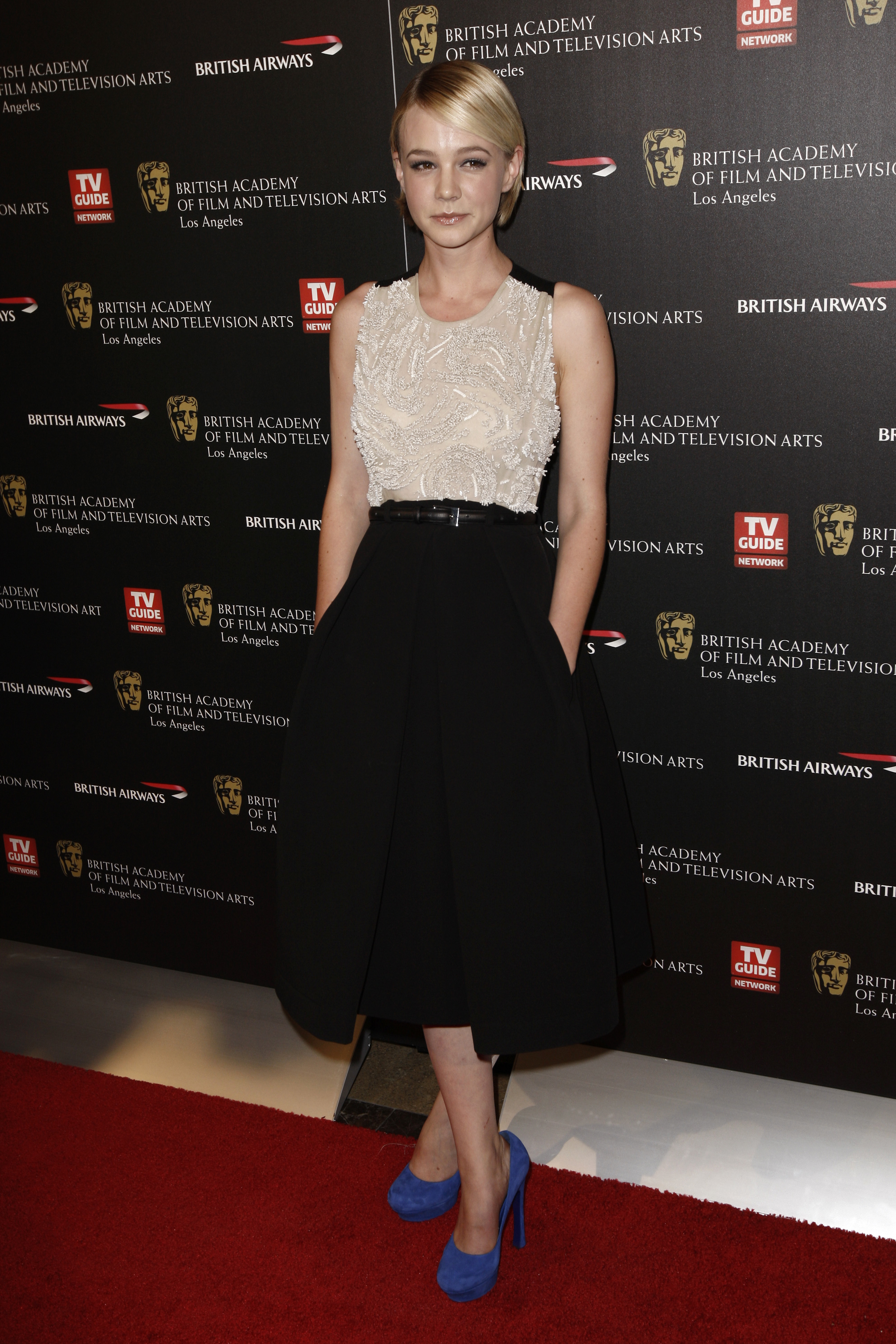carey mulligan bafta awards dress