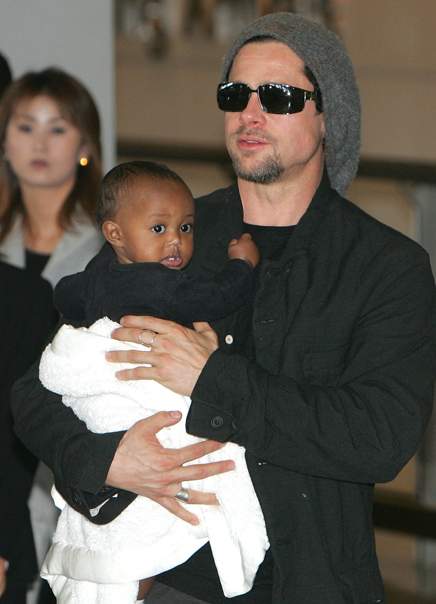 Brad Pitt Zahara Jolie Pitt 2005