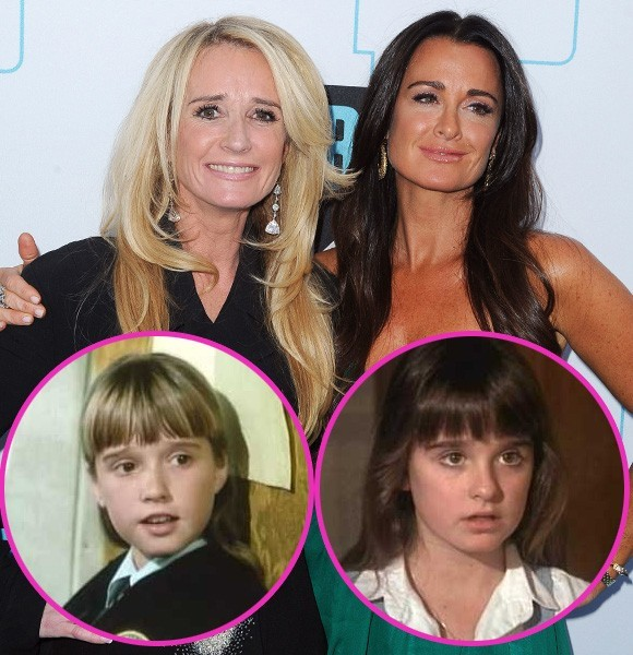 kim and kyle richards then and now