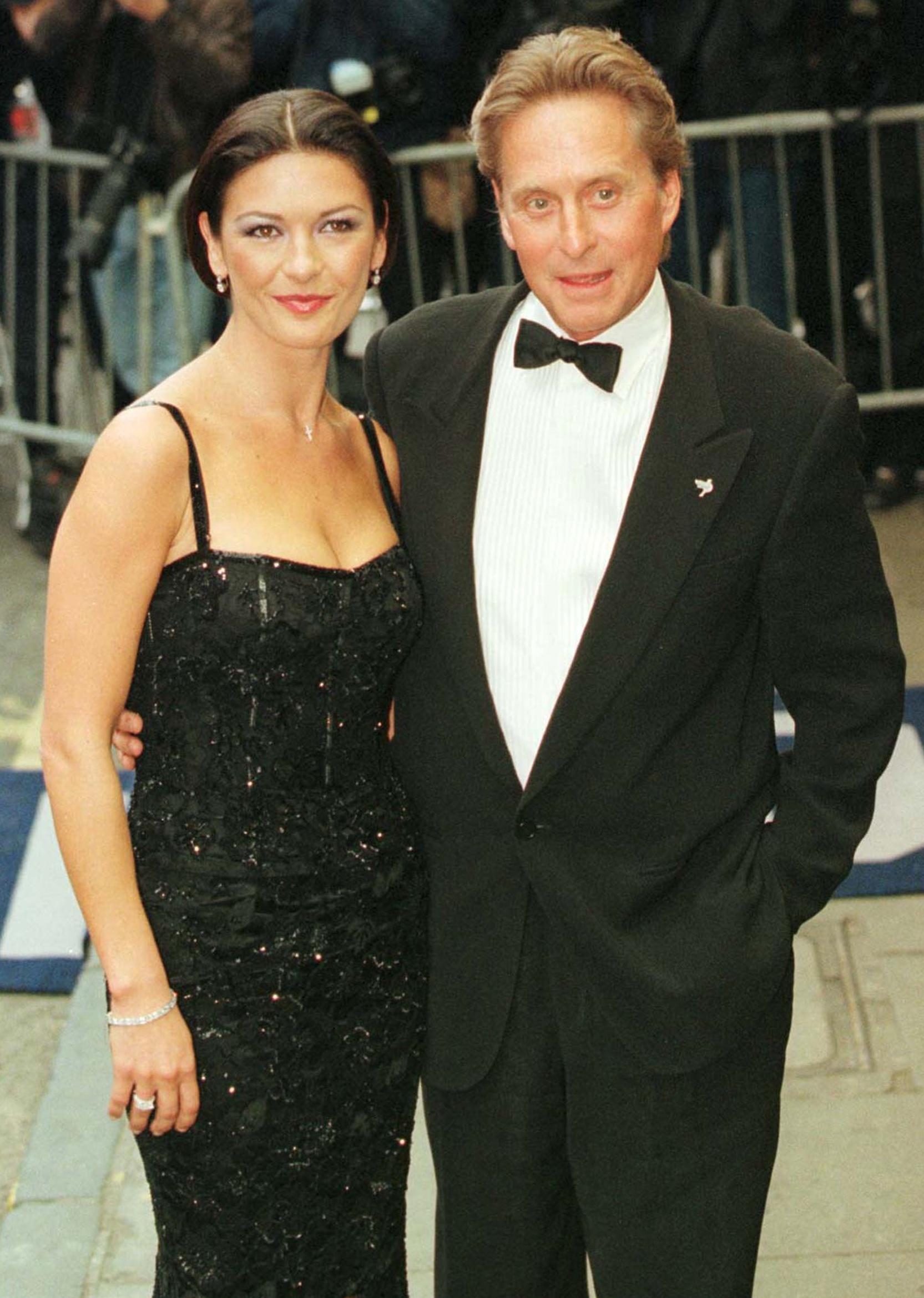 Catherine Zeta Jones and Michael Douglas red carpet