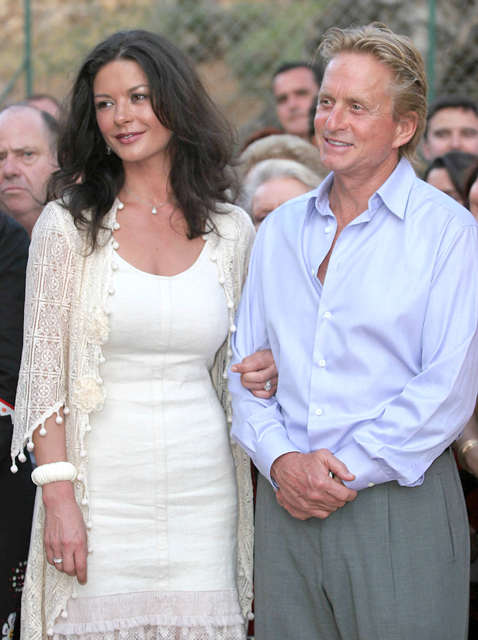 Michael Douglas and Catherine Zeta Jones Majorca