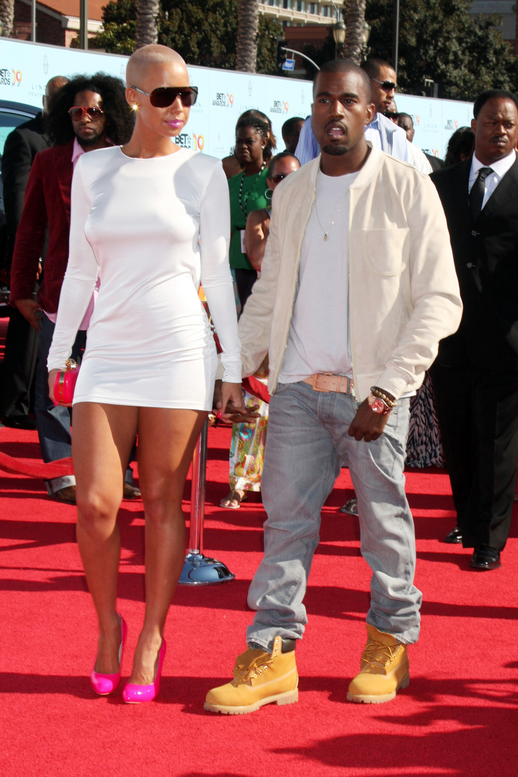 Amber Rose and Kanye West