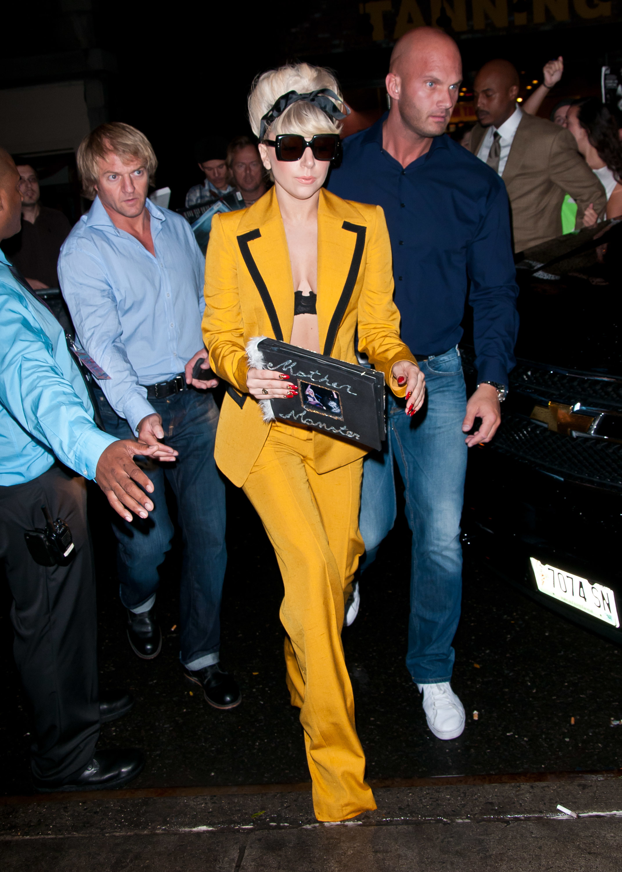 Lady Gaga yellow suit