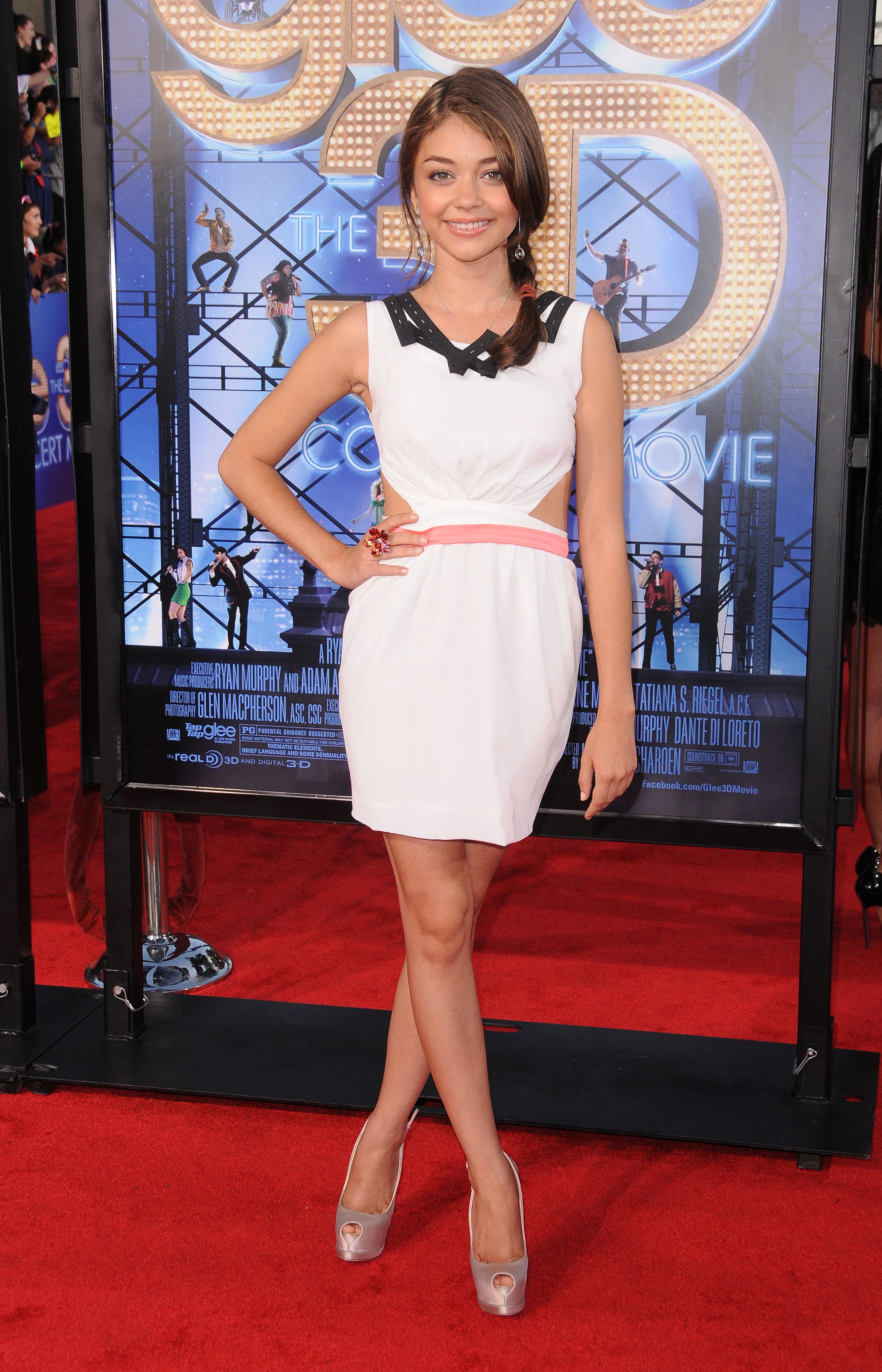 Sarah Hyland Lea Michele Glee premiere