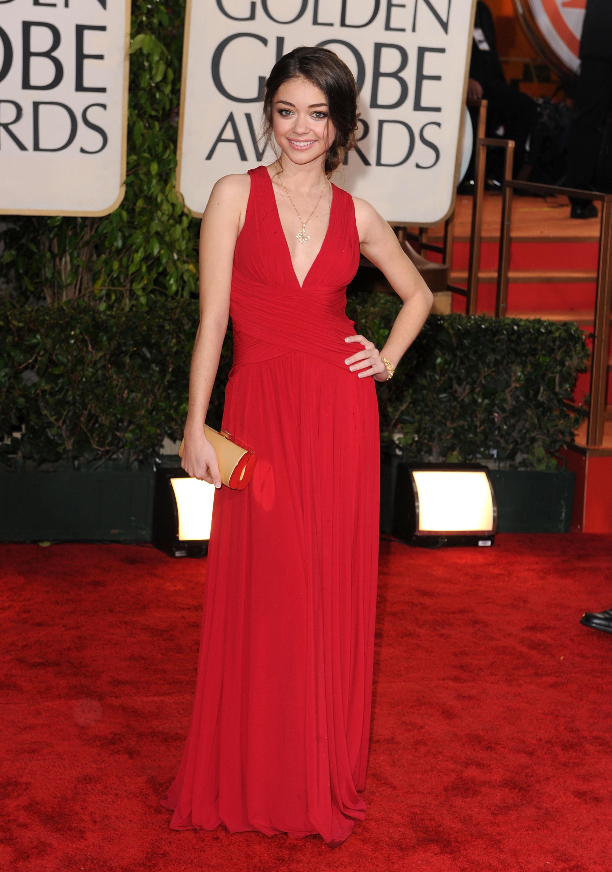 Sarah Hyland Lea Michele red