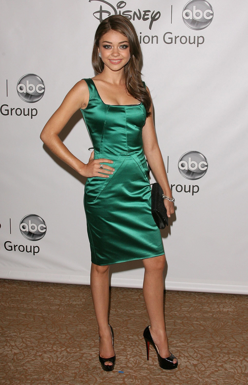 Sarah Hyland Lea Michele green