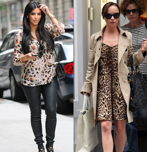 celebs wearing animal print