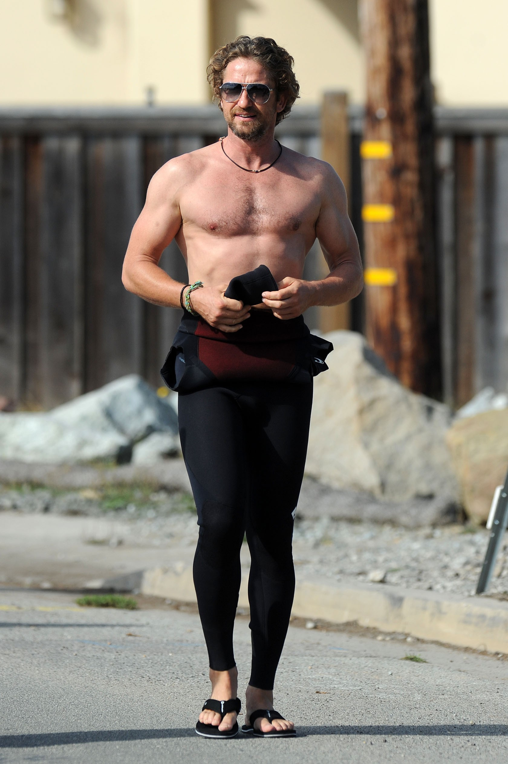 Hugh Jackman Gerard Butler shirtless