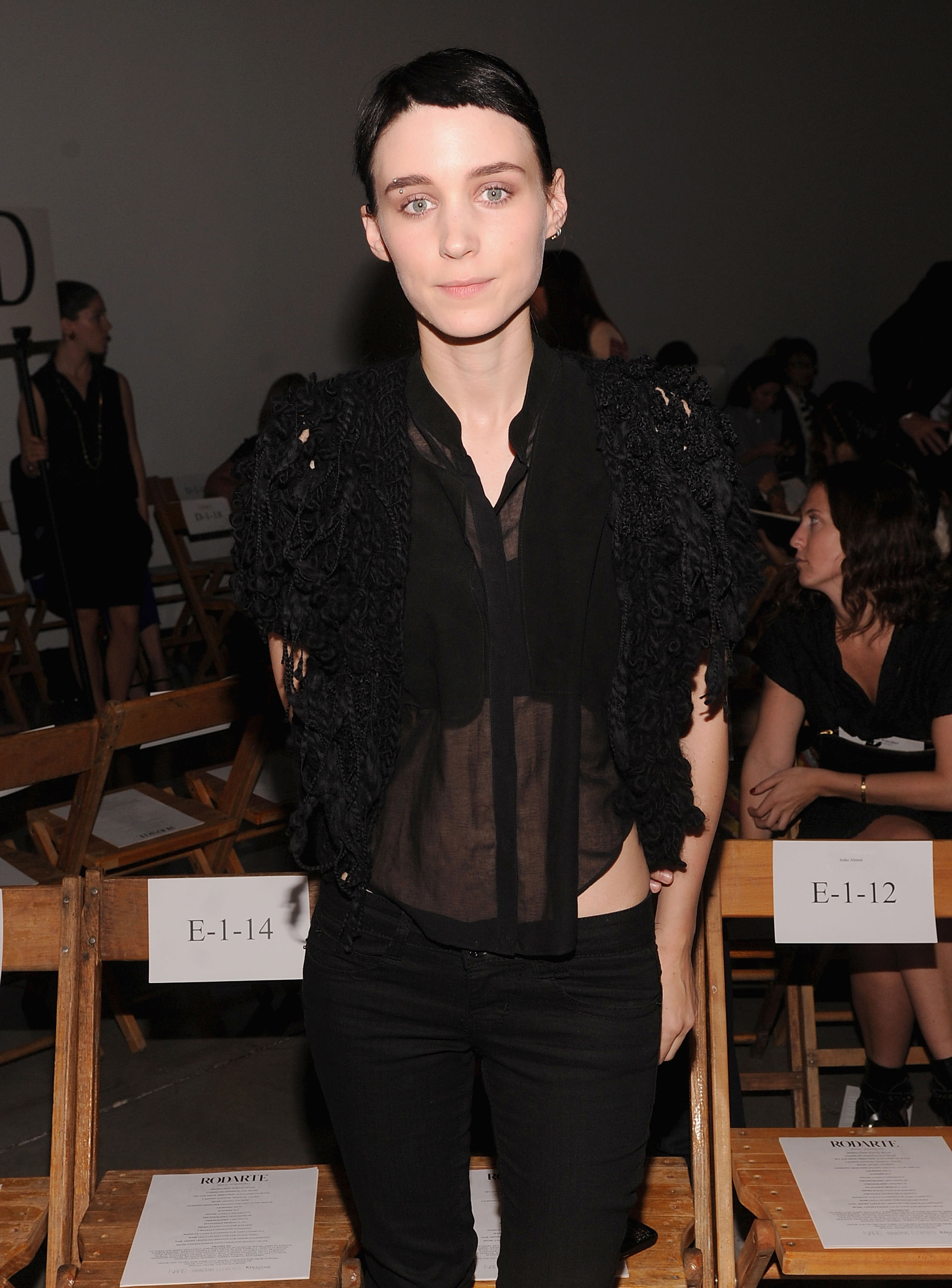 Rooney Mara Fashion Week