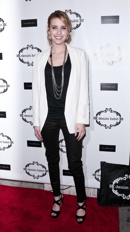 emma roberts black and white