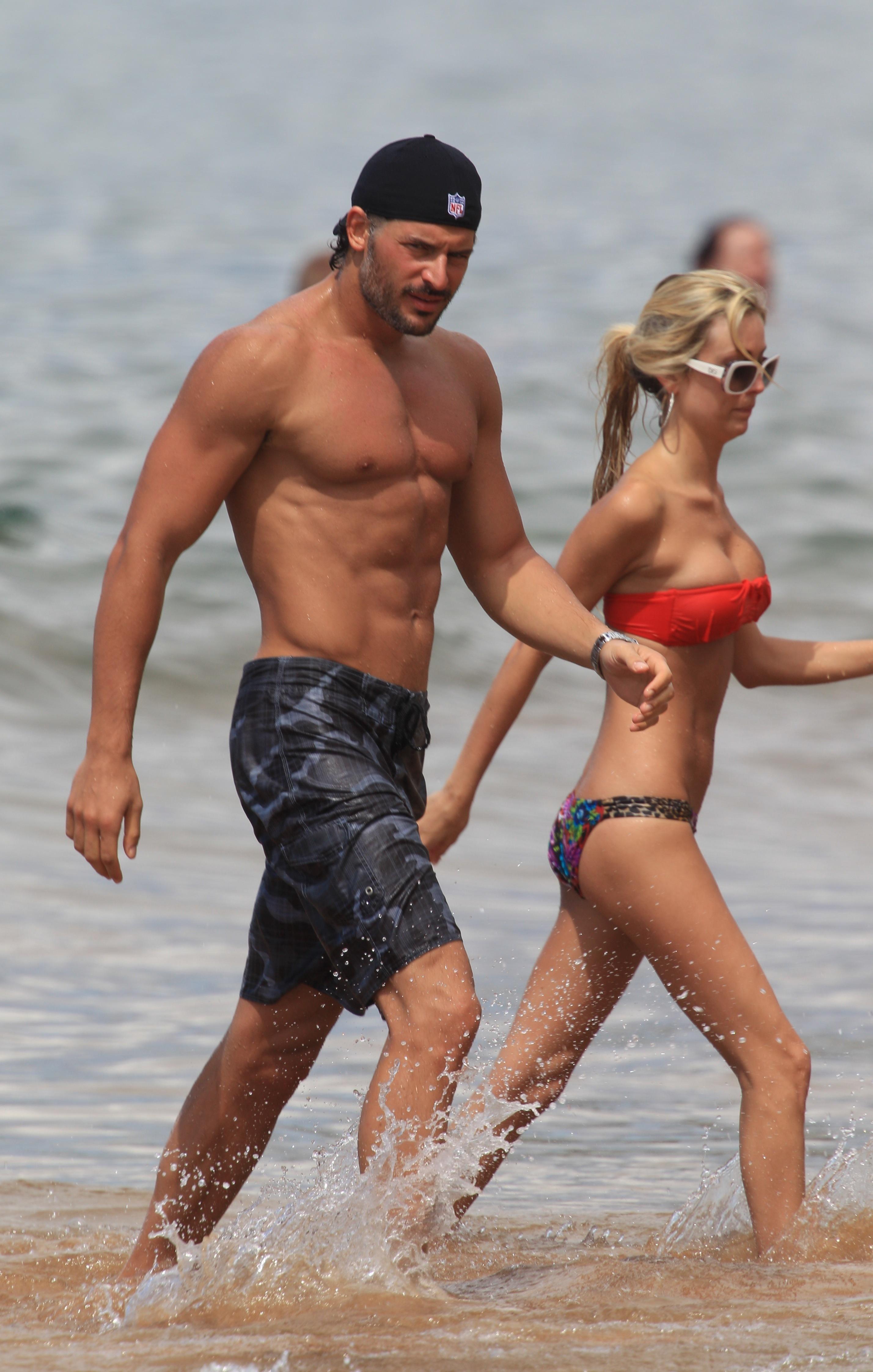 joe manganiello shirtless beach