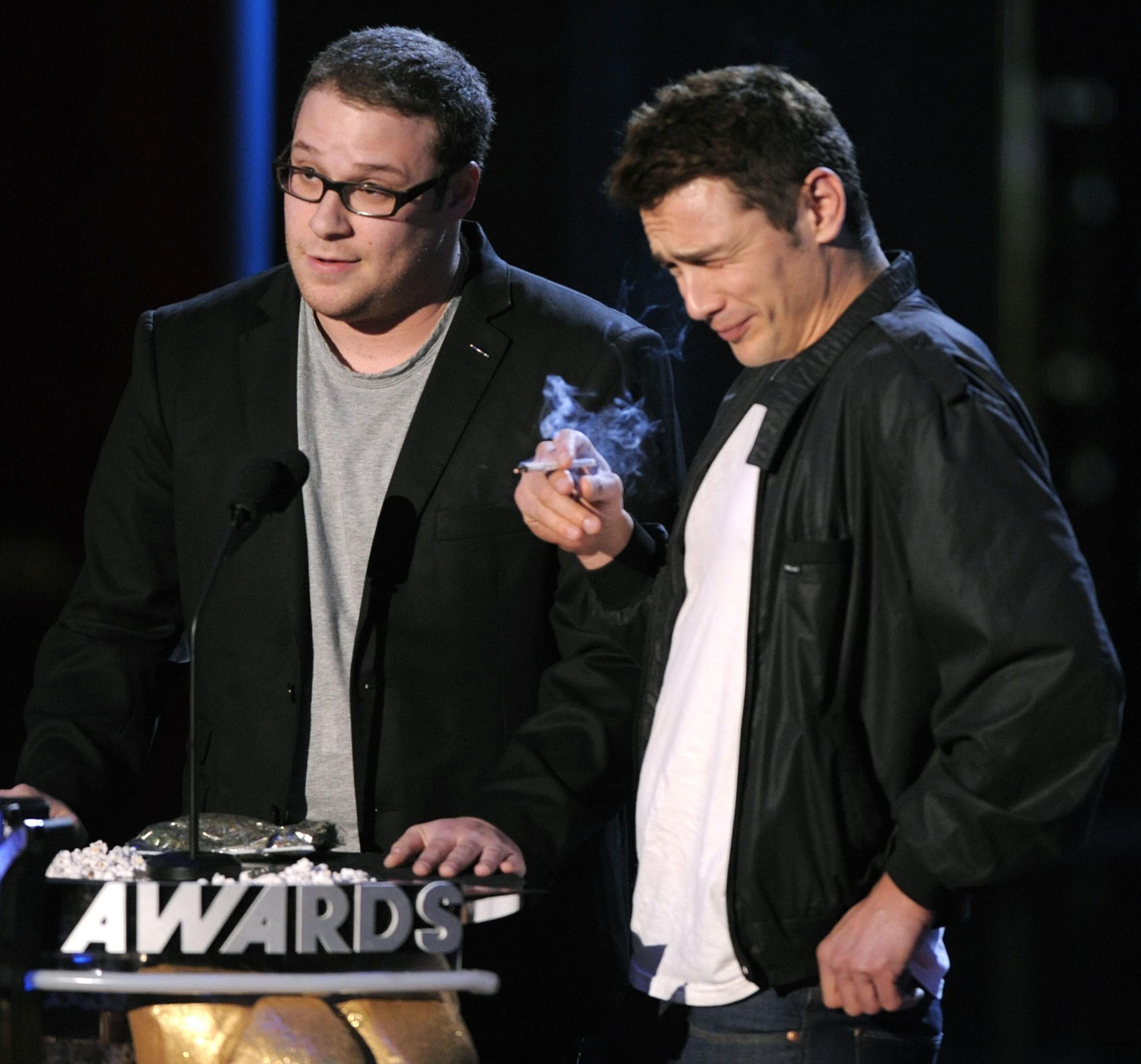 james franco seth rogen smoke pot 2008 mtv movie awards