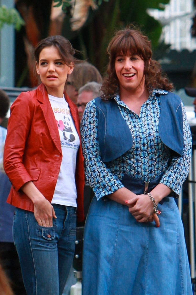 Sandler and dressed like a woman