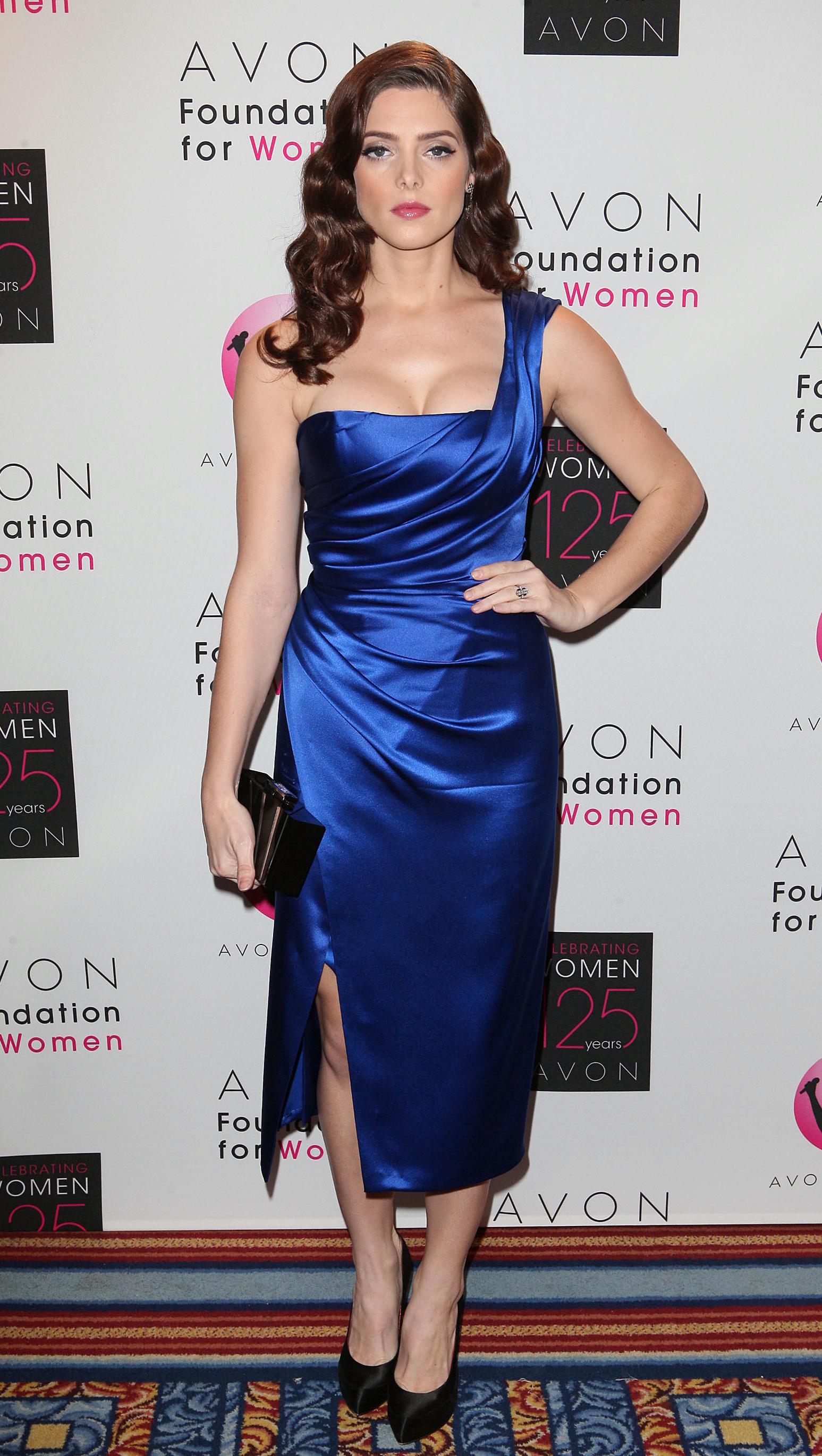 Ashley Green royal blue dress