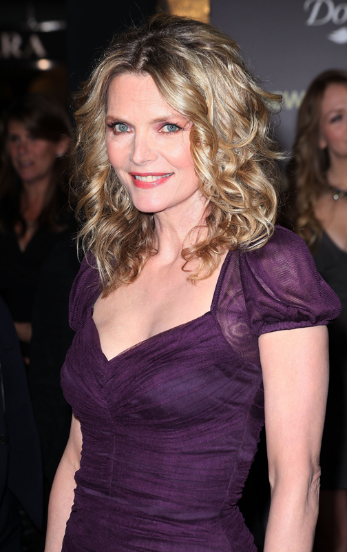 Michelle Pfeiffer purpple dress