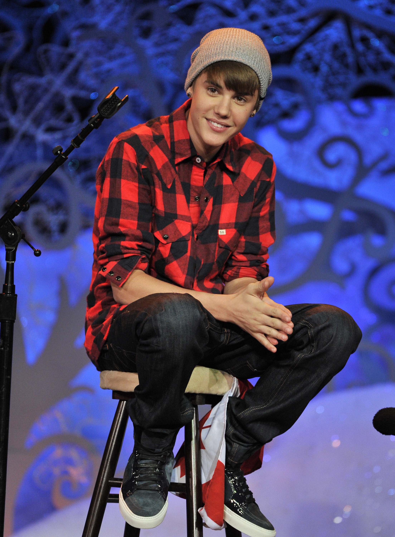 Justin bieber red plaid