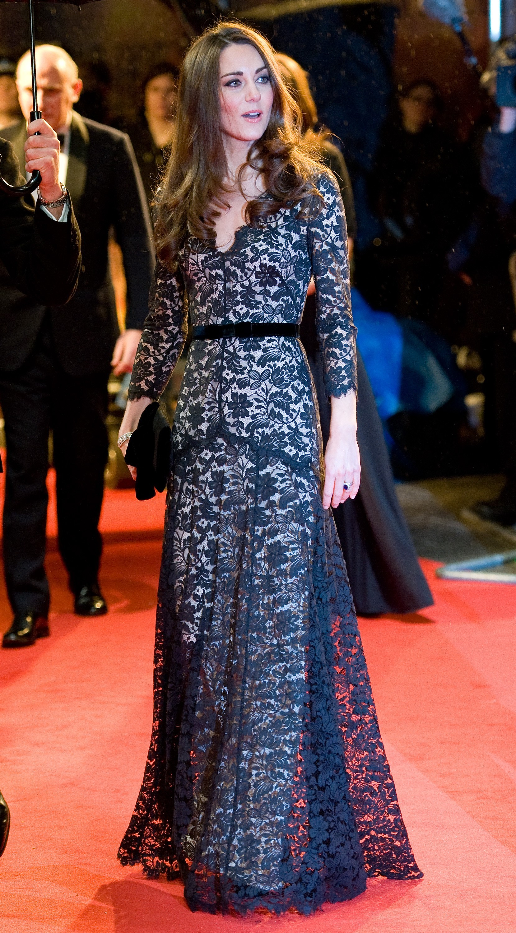 Duchess Kate lace gown