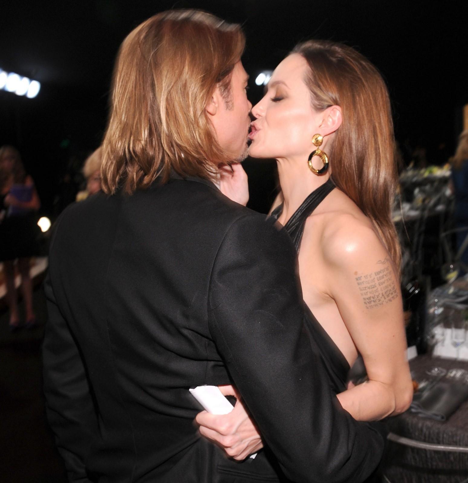 Brad Pitt Angelina Jolie PDA kiss Wonderwall gossip Kat Giantis