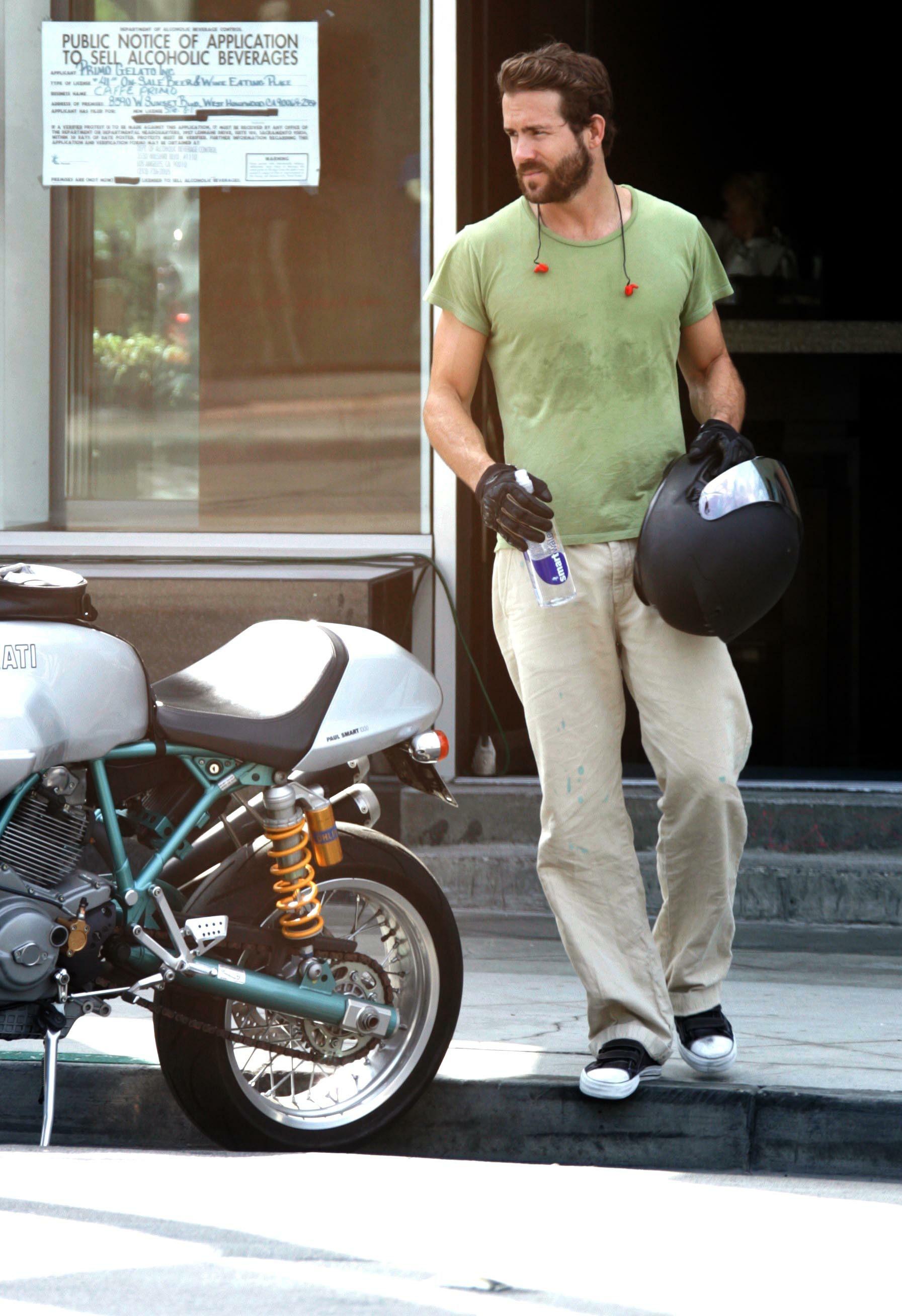 ryan reynolds motorcycle