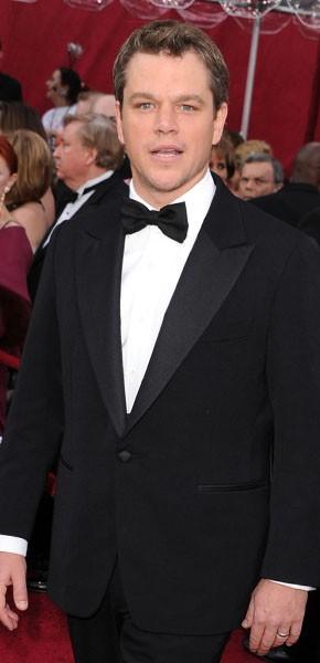 Matt Damon Black tuxedo
